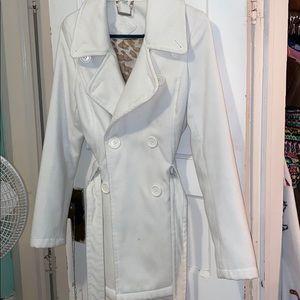 JouJou White pea coat